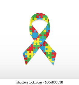 World autism awareness day. Vector illustration.