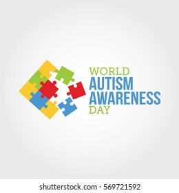 World Autism Awareness Day Vector Illustration. Suitable for Greeting Card, Poster and Banner