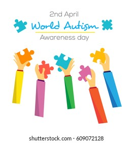 World Autism Day Awareness Poster Design vector illustration