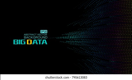 The world big data background of color point construction, vector network big data background.