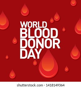 World Blood Donor Day 14th June Banner, Concept, Design, Poster, Mnemonic, Logo, Label, Icon, Sticker, Card, SM Post, Background - vector, illustration