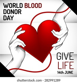 World Blood Donor Day banner for advertising and other purposes. Editable vector with several layers. Eps 10