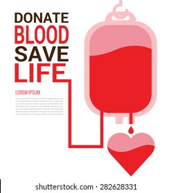 World Blood Donor Day concept for poster