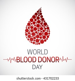 World Blood Donor Day. Blood Donation medical poster.  Medical healthcare concept.  Infusion therapy.