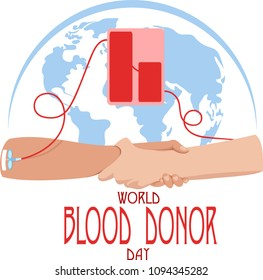 world blood donor day. vector illustration