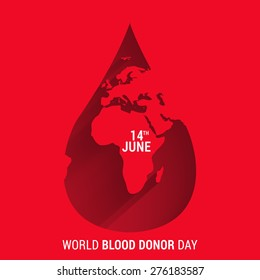 World blood donor day-June 14th. vector illustration