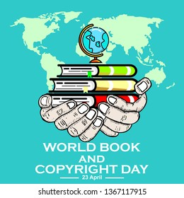 world book and copyright day, vector