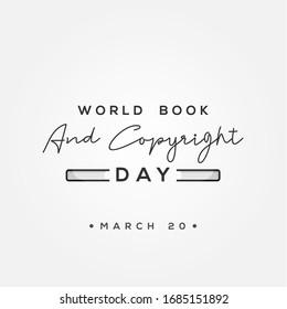 バナーまたは背景にワールドブックと著作権の日のベクター画像デザイン