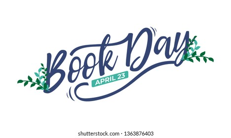 World book day lettering typography. Suitable for wallpaper, poster, banner, background, card, book illustration. Eps.10