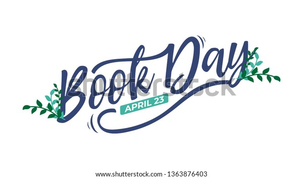World Book Day Lettering Typography Suitable Stock Vector