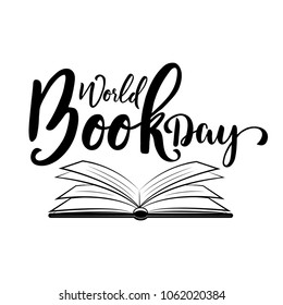 World book day. Vector illustration with open book
