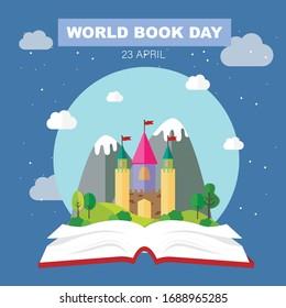 World book day. Vector illustration