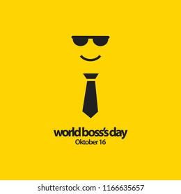 World Boss's Day Vector Template Design Illustration
