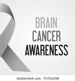 world brain cancer day awareness poster eps10