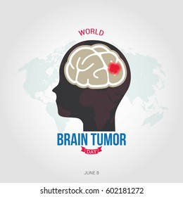 World Brain Tumor Day Vector Illustration. Suitable for greeting card, poster and banner.