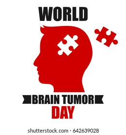 World Brain Tumor Day Vector Illustration. Suitable for poster, banner, campaign, and greeting card.