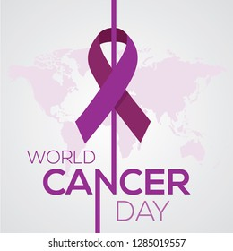 World Cancer Day concept. February 4 Vector Illustration.