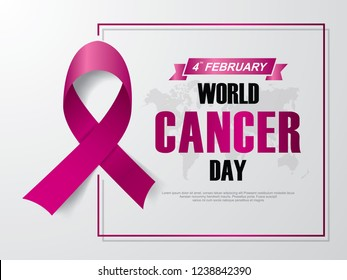 World Cancer Day. February 4. Vector illustration