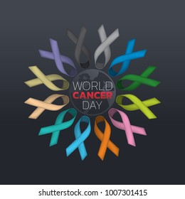 World Cancer Day icon design. logo vector illustration