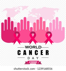 world cancer day, poster vector