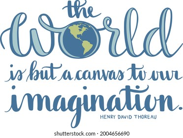 The World is But a Canvas Quote Vector