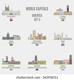 World capitals.Famous Places of American cities