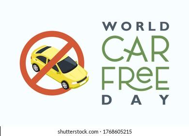 World Car Free Day banner vector