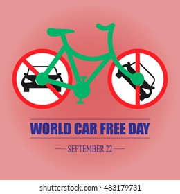 World car free day vector illustration