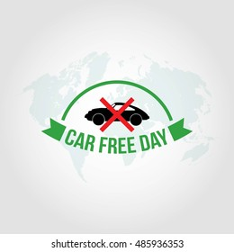 World car free day vector illustration. Great for annual celebration of World Car Free Day poster and banner.