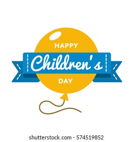 World Childrens day emblem isolated vector illustration on white background. 1 june world family holiday event label, greeting card decoration graphic element