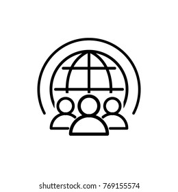 world community icon vector