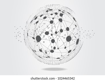 World connected. Global network concept
