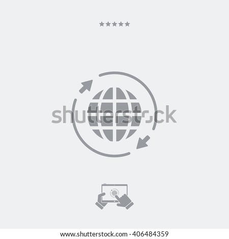 World Connection Single Essential Web Icon Stock Vector (Royalty ...