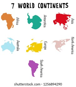 World continents for your design - vector