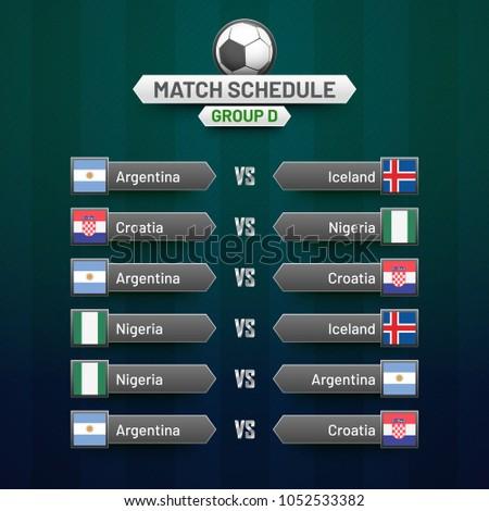 World cup calendar soccer schedule table stock vector royalty free soccer schedule table template groupwise maxwellsz
