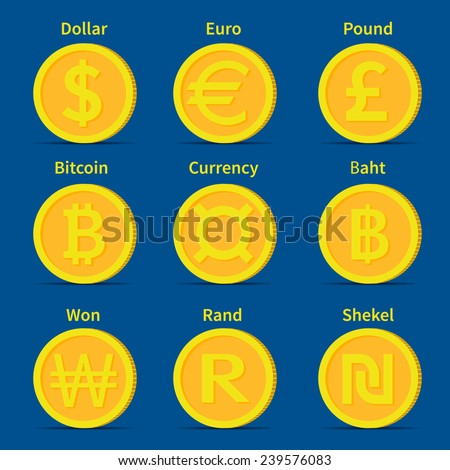 World Currency Icons Dollar Euro British Stock Vector (Royalty Free) 239576083 - Shutterstock