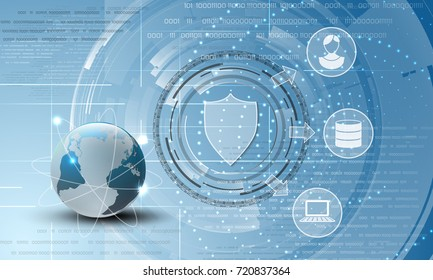 World data protection abstract background