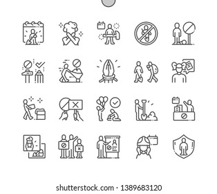World Day Against Child Labour Well-crafted Pixel Perfect Vector Thin Line Icons 30 2x Grid for Web Graphics and Apps. Simple Minimal Pictogram