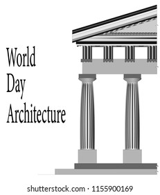 the world day of architecture, the image of the Greek architectural order
