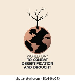 World Day to Combat Desertification and Drought Vector illustration