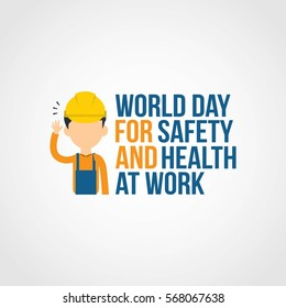 World Day for Safety and Health at Work Vector Illustration. flat style
