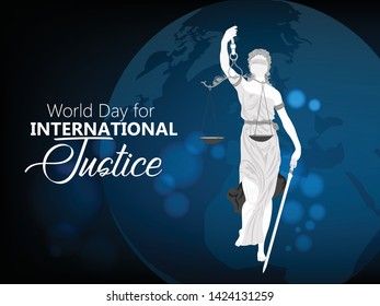 World Day of Social Justice. 20 February. world social justice day design template vector illustration