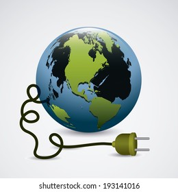 World design over gray background, vector illustration