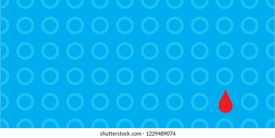 World diabetes day awareness 14 november 14th of November circle blue   blue ribbon Vector eps simbol banner card Blue circle sign signs Diabetes Type One 1 Glucose meter Blood drop  diabetic  stop