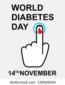 world diabetes day, vector