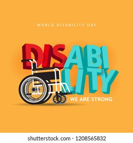 world disability day with 3d text