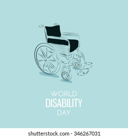 World Disability Day Hand drawn background. Vector