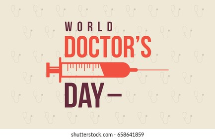 World doctor day style background collection