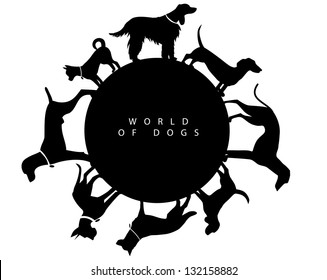 World of Dogs Graphic Element. EPS 8 vector, grouped for easy editing. No open shapes or paths.