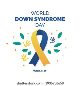 World Down syndrome day. Down syndrome awareness concept. Vector Illustration